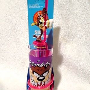 Vintage Looney tunes taz silly sipper cup